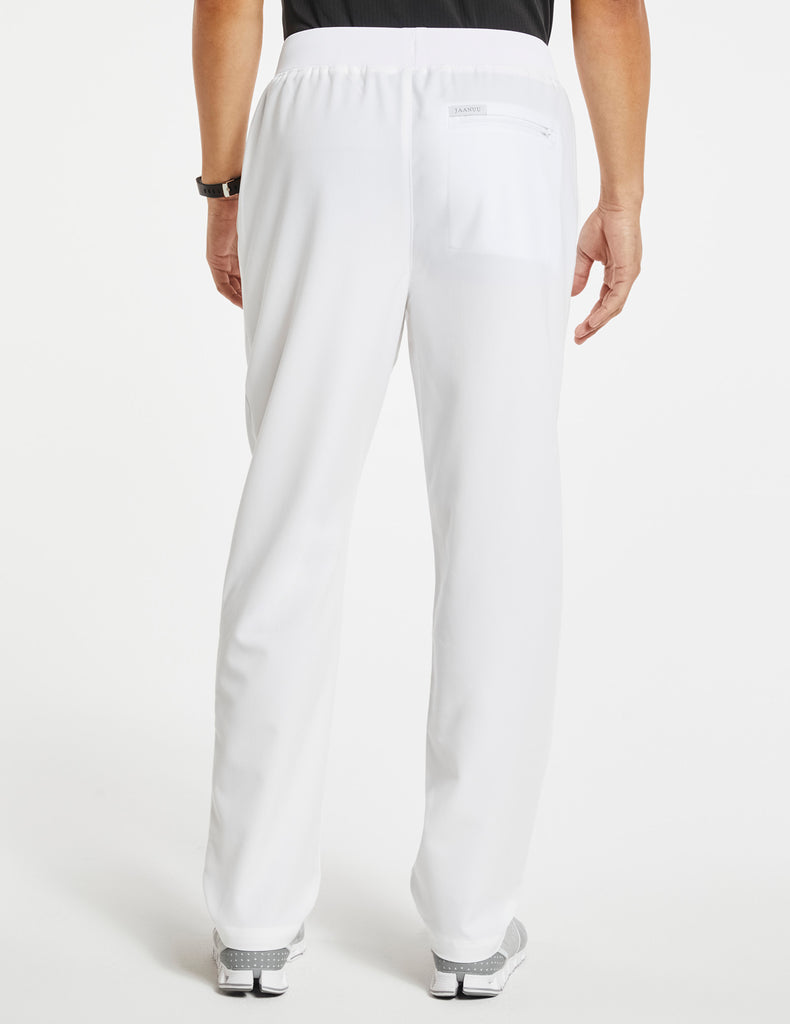 Jaanuu | Men's 4-Pocket Relaxed-Fit Pant - White - 4