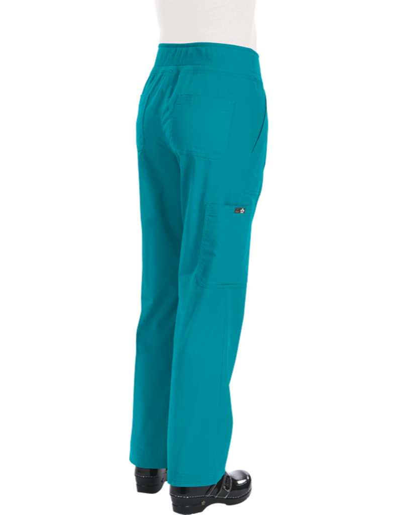Koi | Morgan Pant - Turquoise (Bright Teal)