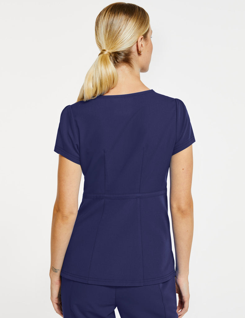 Jaanuu | Women's Signature Peplum Top - Navy - 4