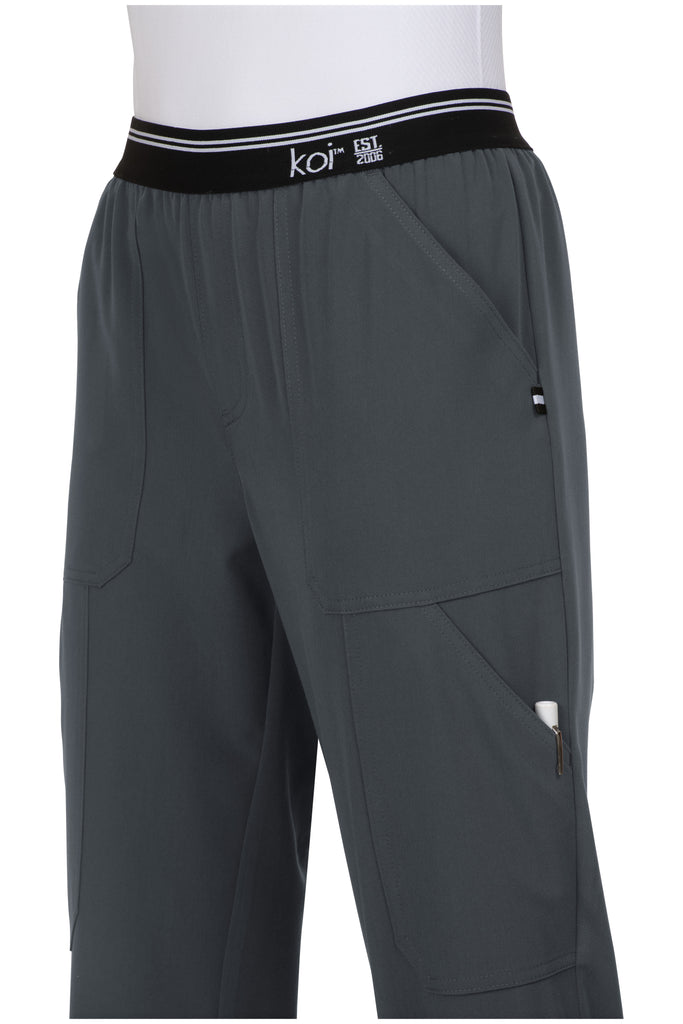 Koi | On The Run Scrub Pant - Charcoal
