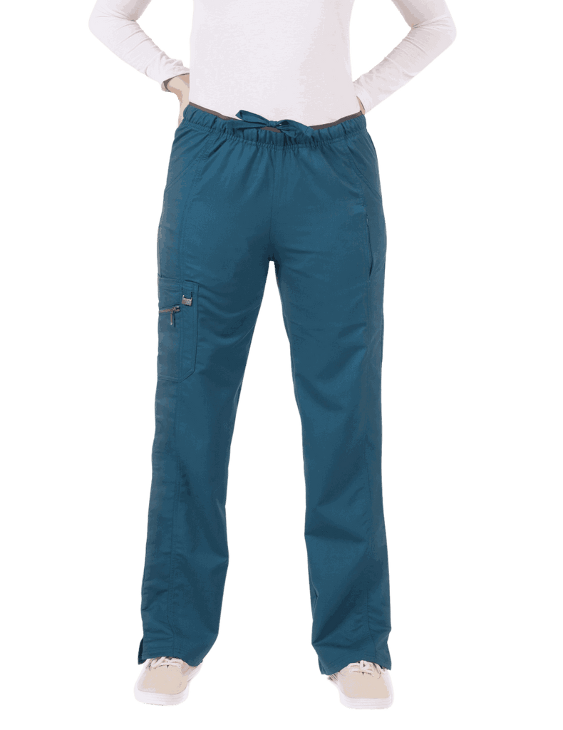 Life Threads | Women's Ergo 2.0 Fashion Cargo Pant - Caribbean Blue - 1