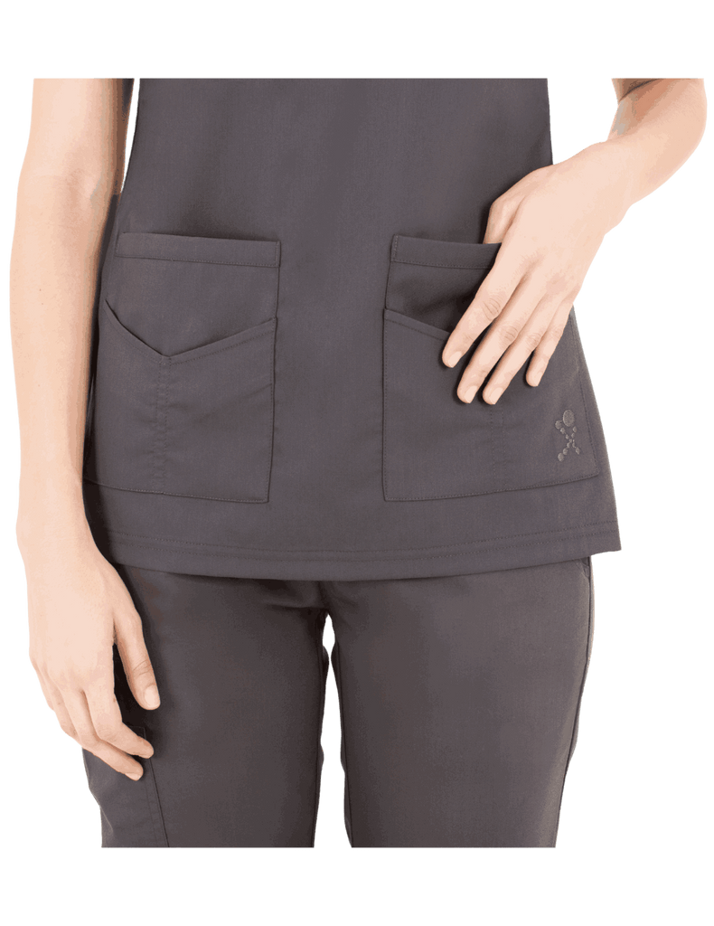 Life Threads | Women's Ergo 2.0 Utility Top - Pewter - 3