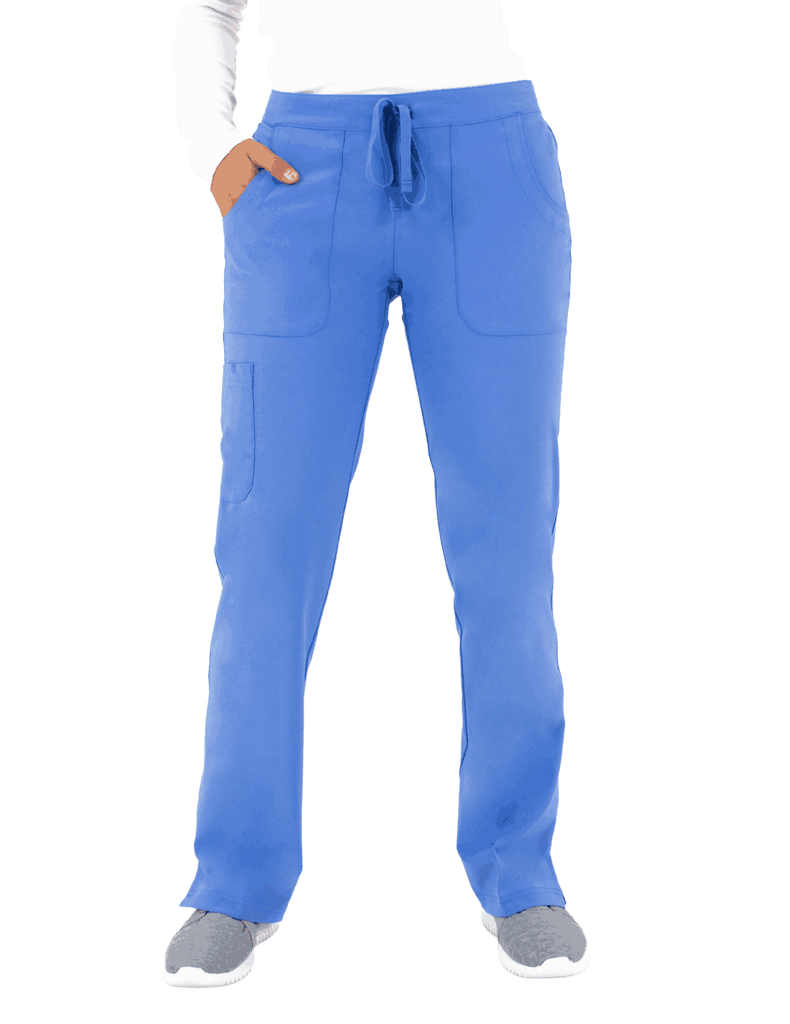 Life Threads | Women's Active Straight Leg Cargo Pant - Ceil Blue - 1