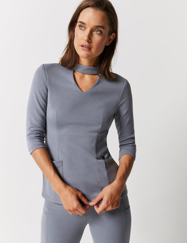 Jaanuu | Mock Neck Top - Graphite - 1