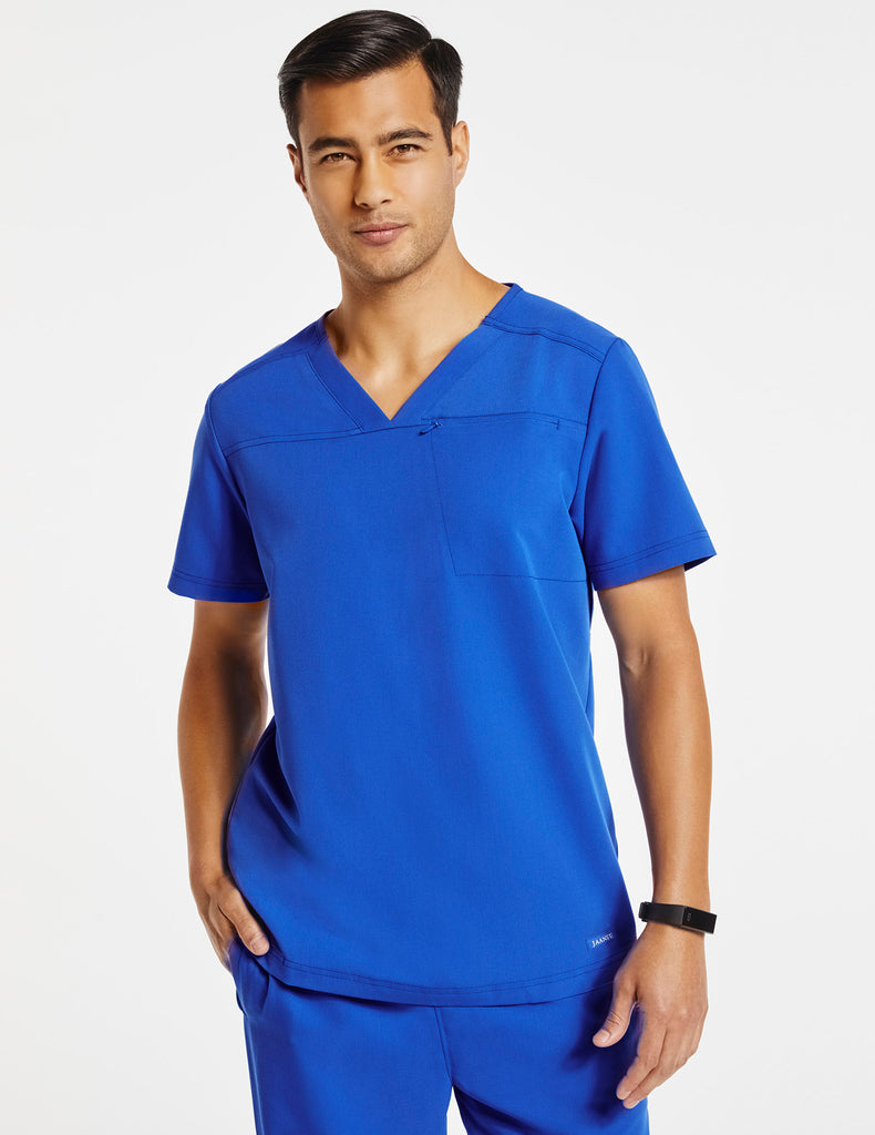 Jaanuu | Men's Hidden-Pocket Top - Royal Blue - 1