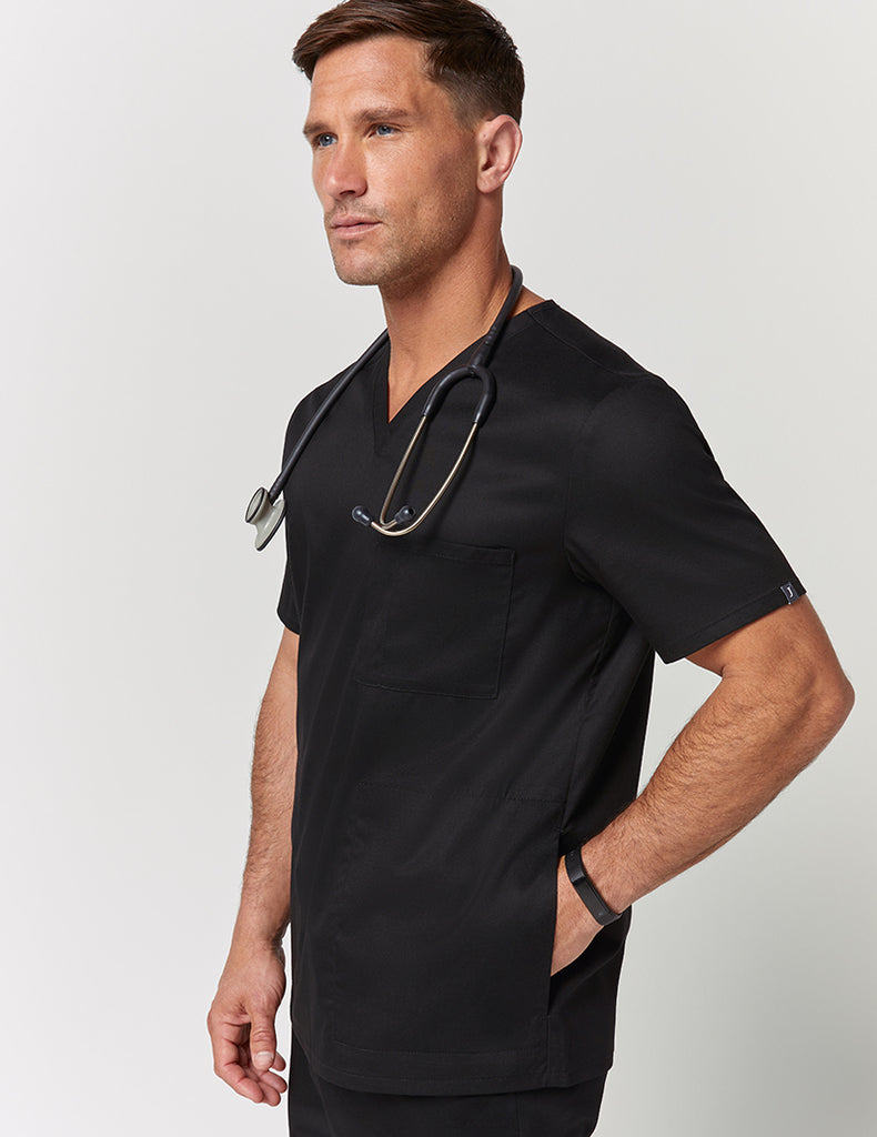 Jaanuu | V-Neck 3 Pocket Top - Black - 1