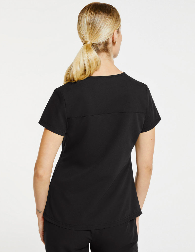 Jaanuu | Women's 3-Pocket Notched Top - Black - 4