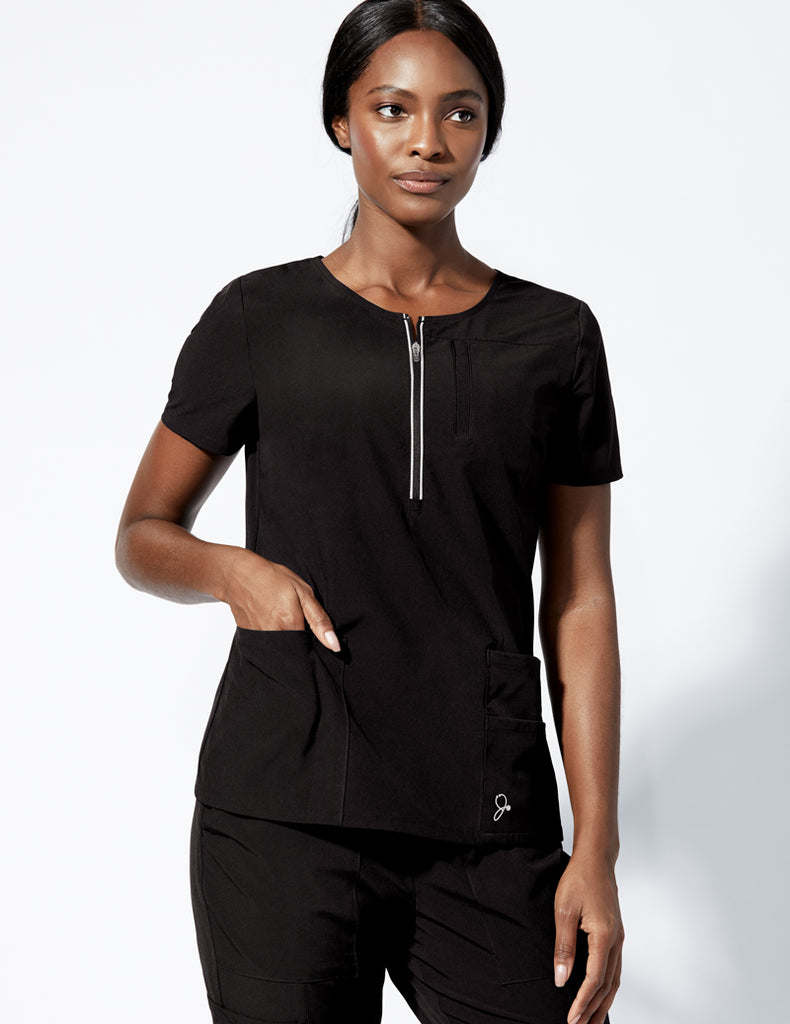 Jaanuu | Dash Half-Zip Top - Black - 1