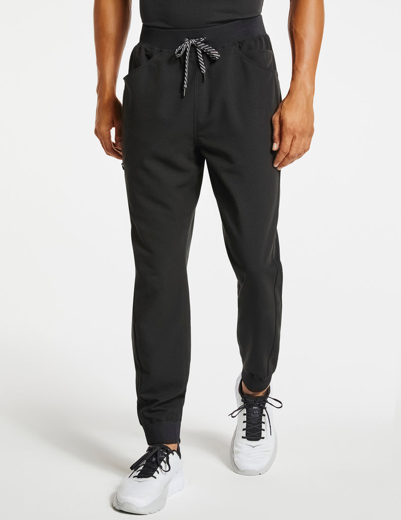 Jaanuu | Men's Drawstring Jogger Pant - Black - 1