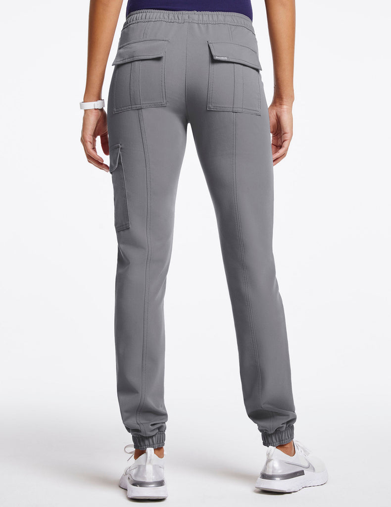 Jaanuu | Women's Essential Gold Zip Jogger - Gray - 4