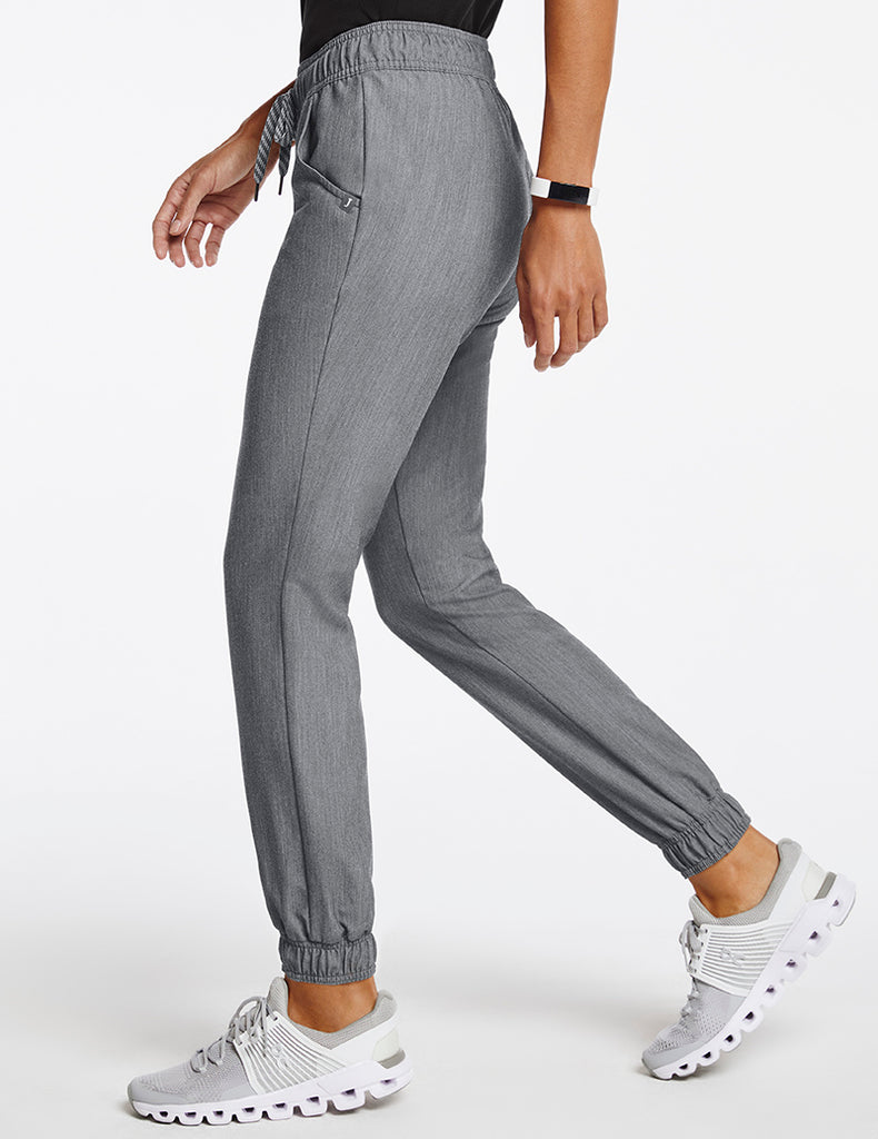 Jaanuu | Women's Essential 5-Pocket Jogger - Heather Gray - 3