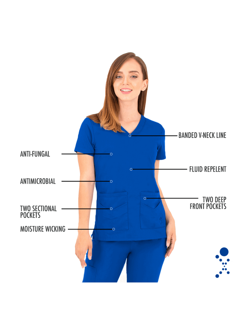 Life Threads | Women's Ergo 2.0 Utility Top - Royal Blue - 4