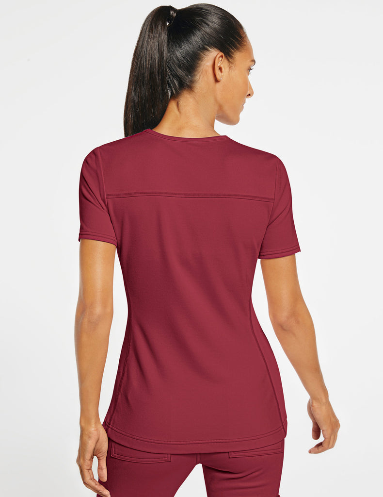 Jaanuu | Women's 2-Pocket Side-Rib Top - Wine - 4