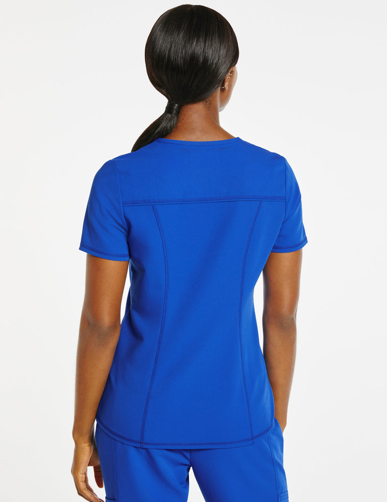 Jaanuu | Women's 4-Pocket D-Ring Top - Royal Blue - 4