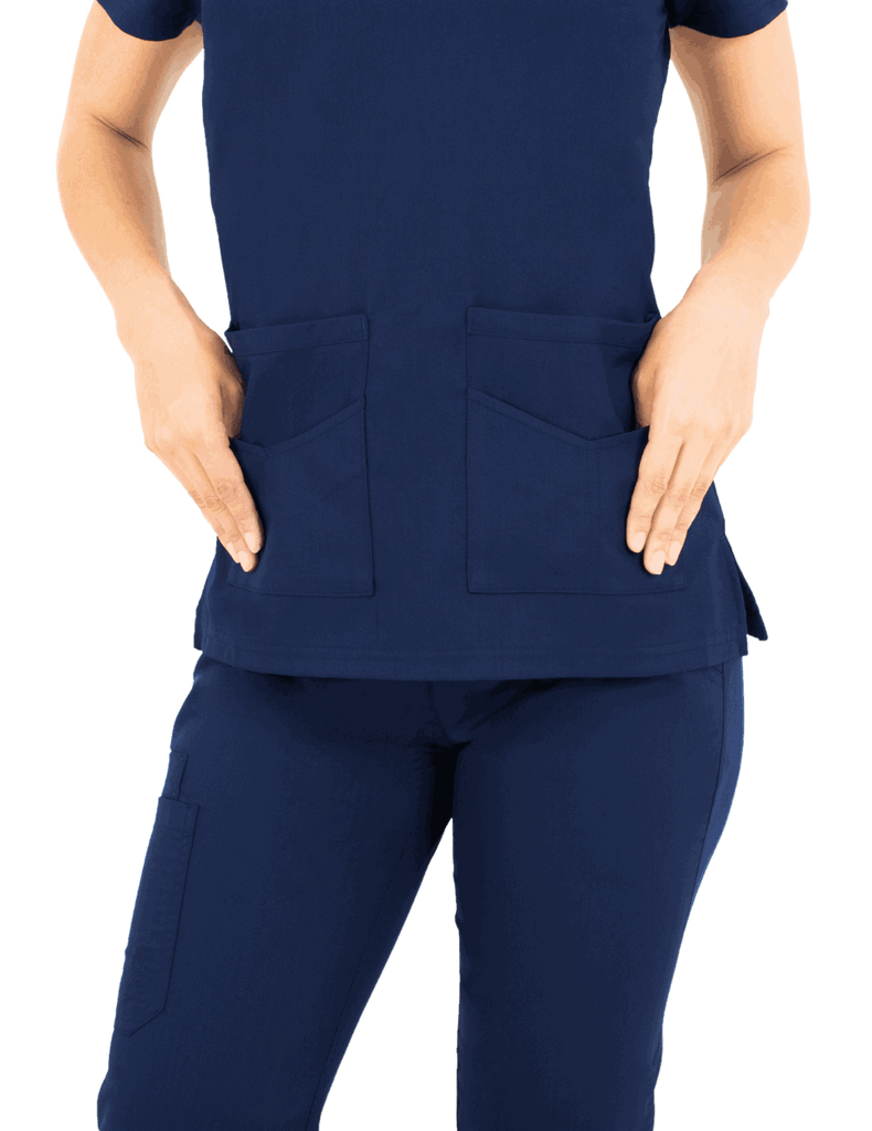 Life Threads | Women's Ergo 2.0 Utility Top - Navy Blue - 3