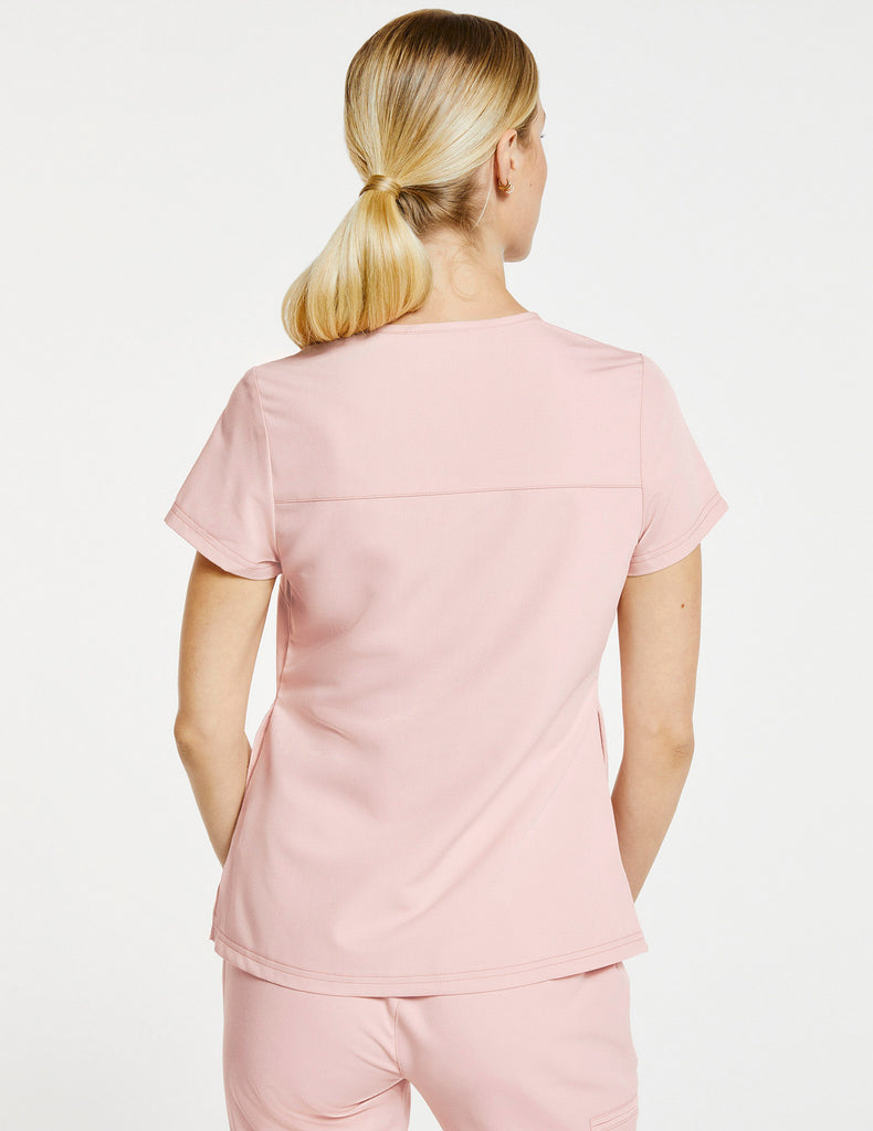 Jaanuu | Women's 3-Pocket Notched Top - Blushing Pink - 4