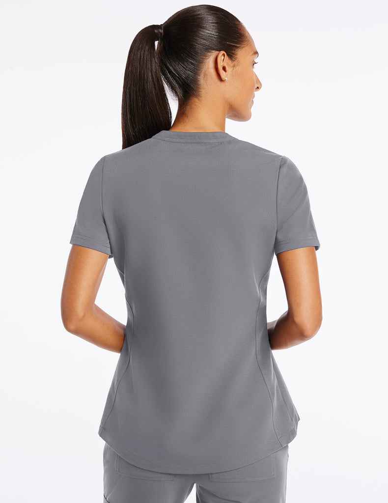 Jaanuu | Women's Crew Step Hem Top - Gray - 4