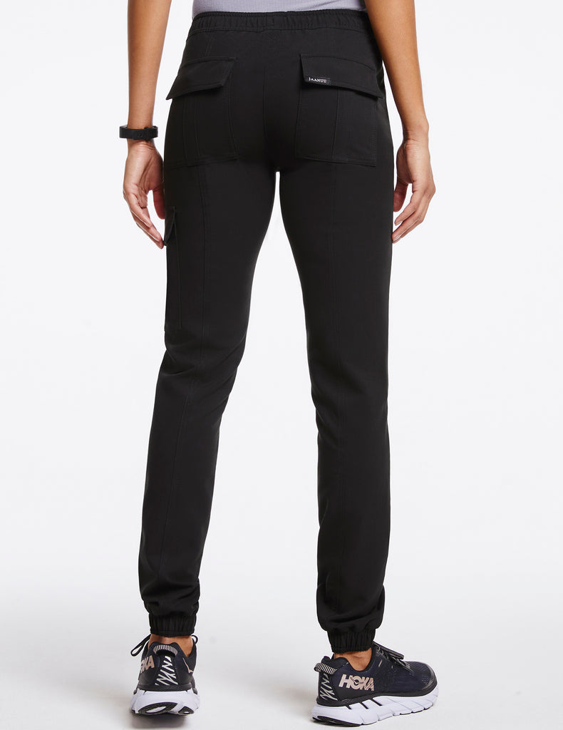 Jaanuu | Women's Essential Gold Zip Jogger - Black - 4