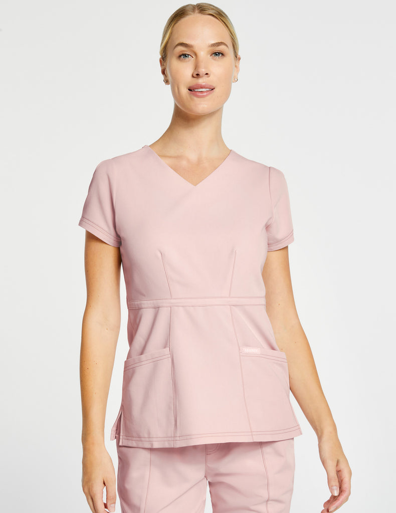 Jaanuu | Women's Signature Peplum Top - Blushing Pink - 1