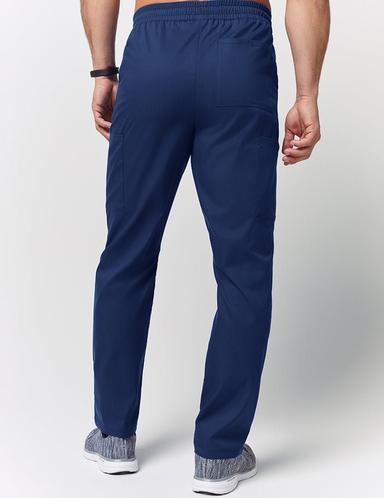 Jaanuu | Straight Leg Drawstring Pant - Estate Navy Blue - 4