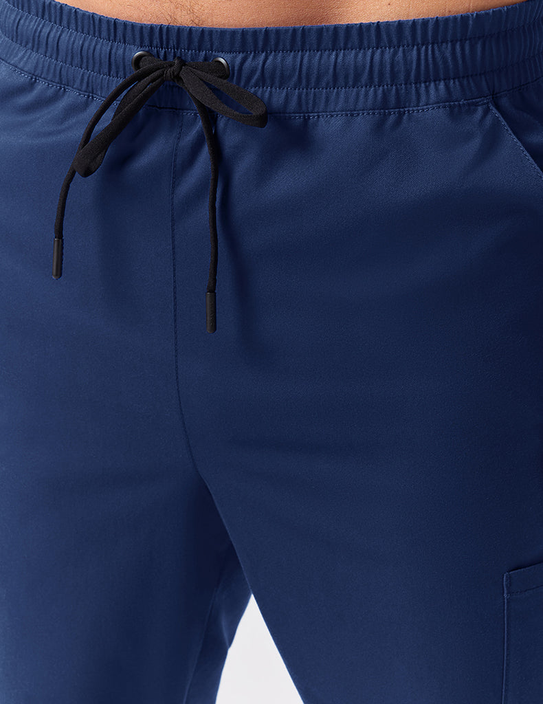 Jaanuu | Straight Leg Drawstring Pant - Estate Navy Blue - 5
