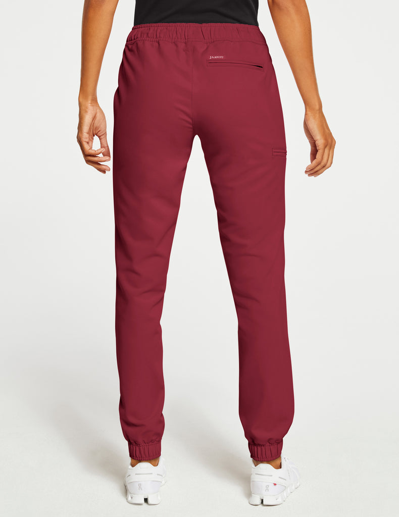 Jaanuu | Women's Essential 5-Pocket Jogger - Wine - 4