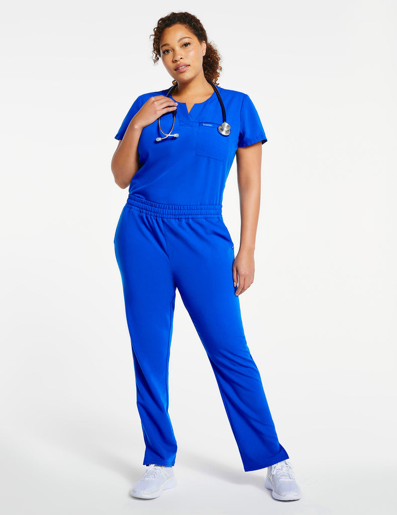 Jaanuu | Women's 1-Pocket Tuck-In Top - Royal Blue - 2 - Curve