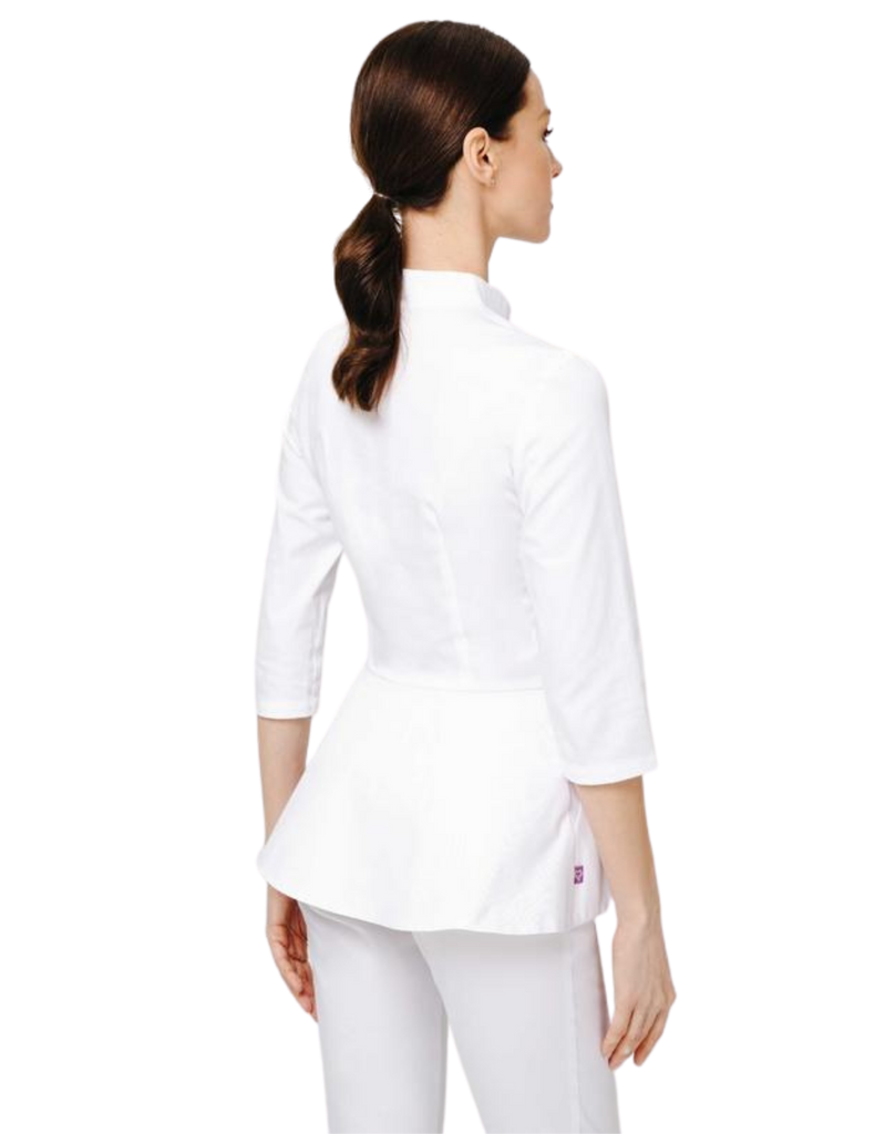Treat in Style | Button Peplum Blouse - White