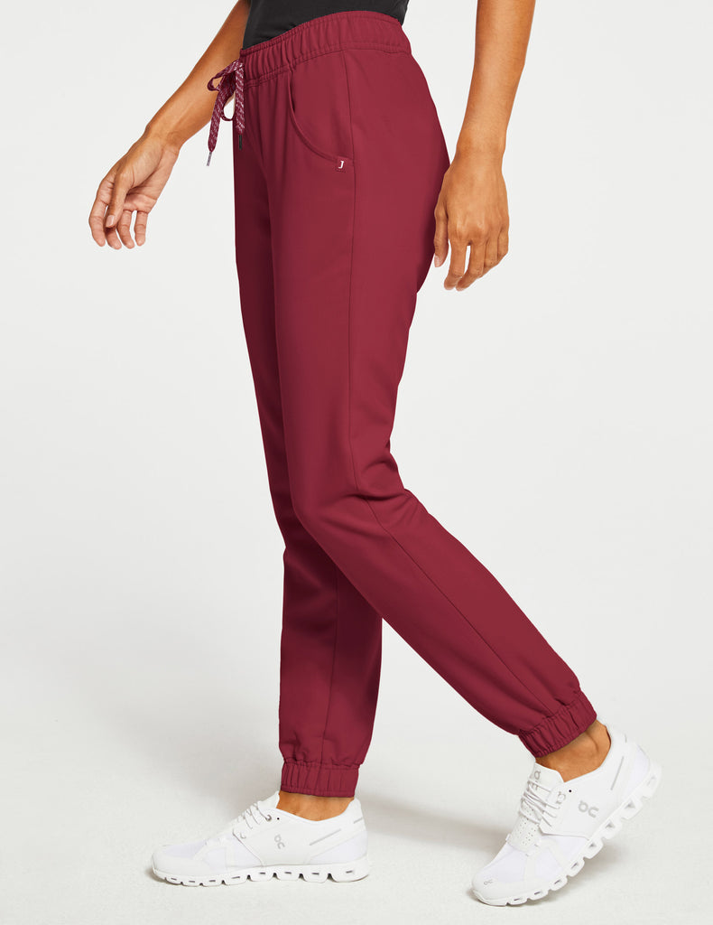 Jaanuu | Women's Essential 5-Pocket Jogger - Wine - 3