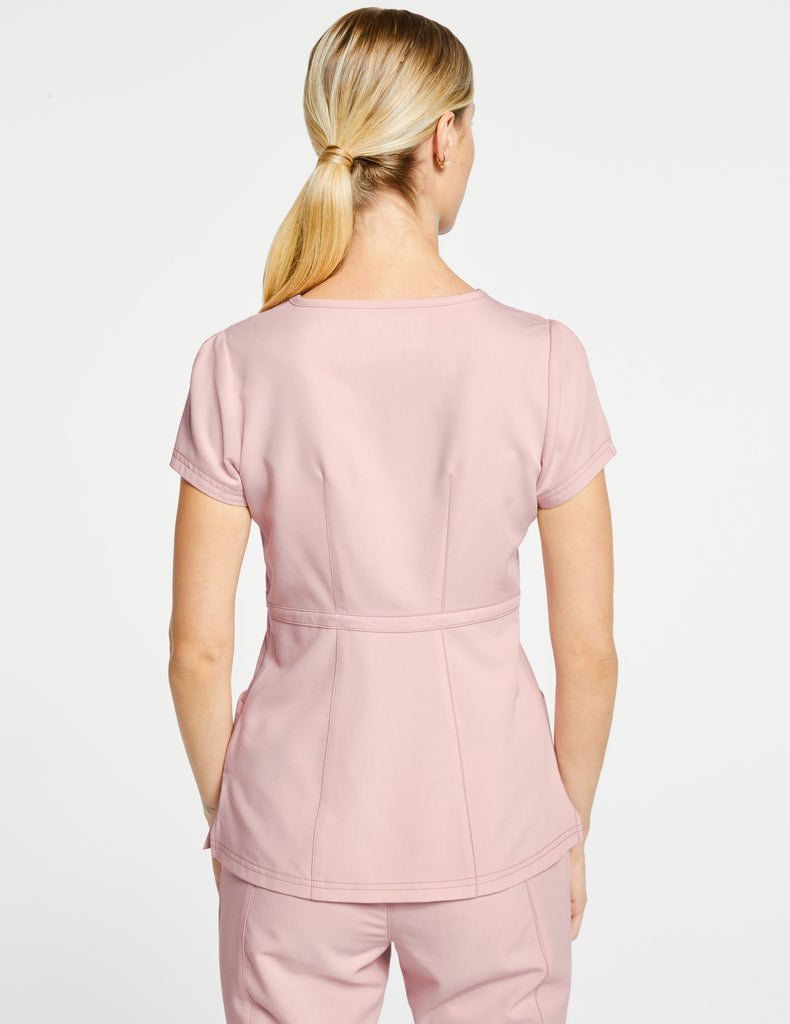 Jaanuu | Women's Signature Peplum Top - Blushing Pink - 4