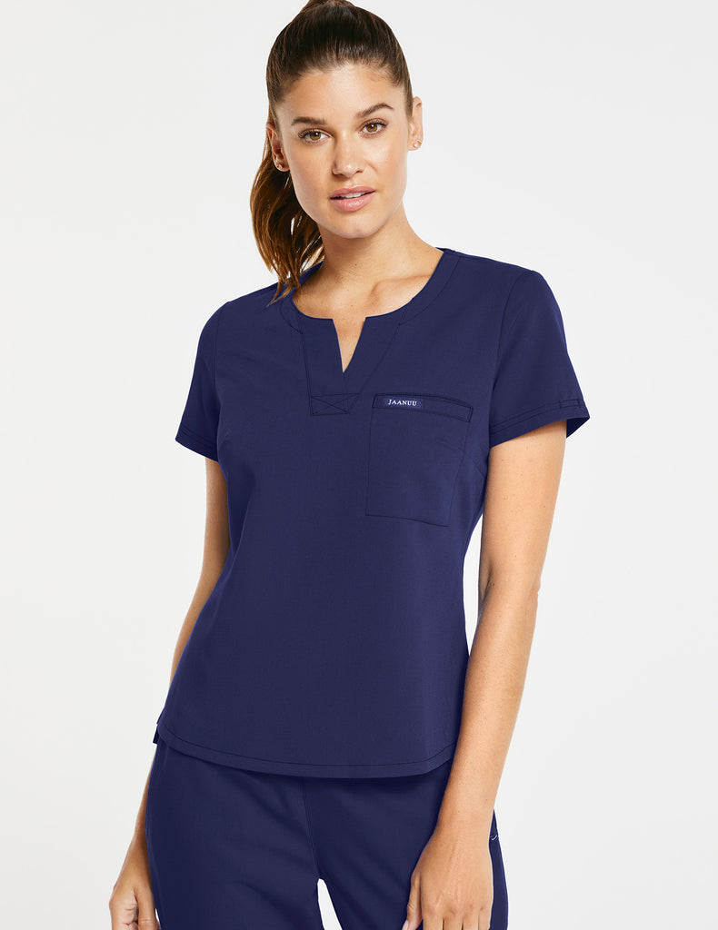 Jaanuu | Women's 1-Pocket Tuck-In Top - Navy - 1