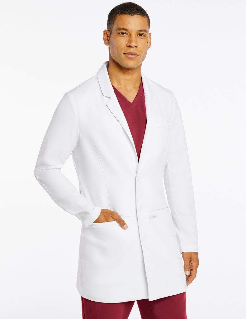 Jaanuu | Men's Signature Lab Coat - White - 1