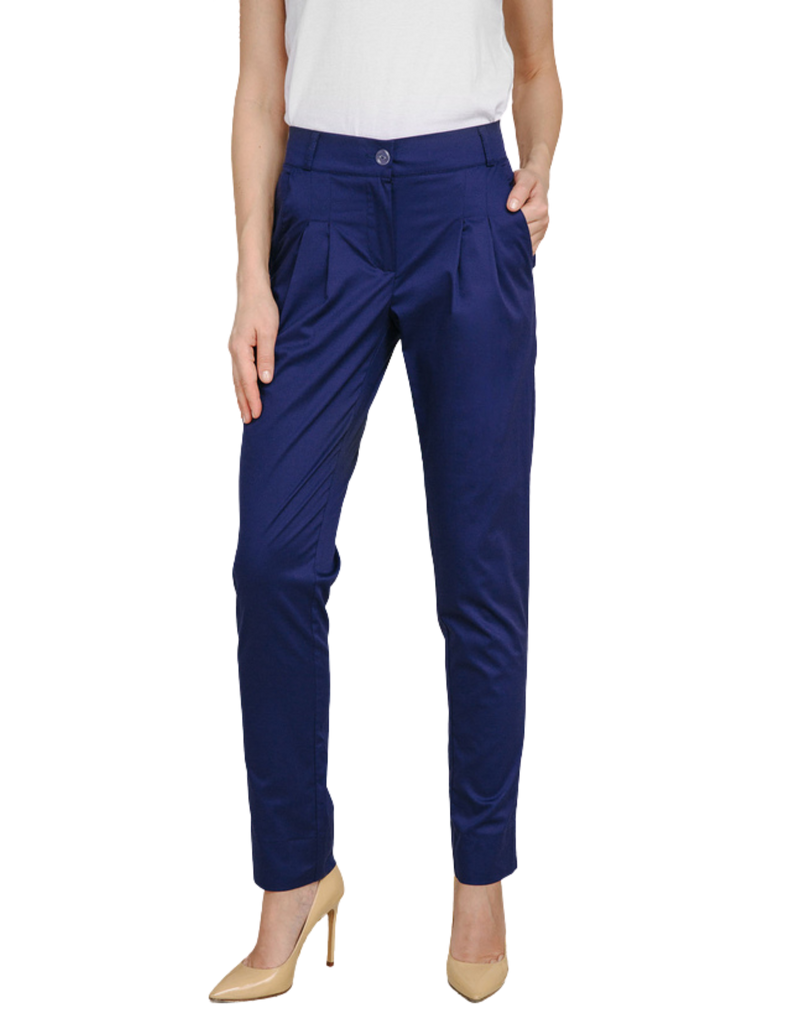 Treat in Style | Cropped Pants - Blue