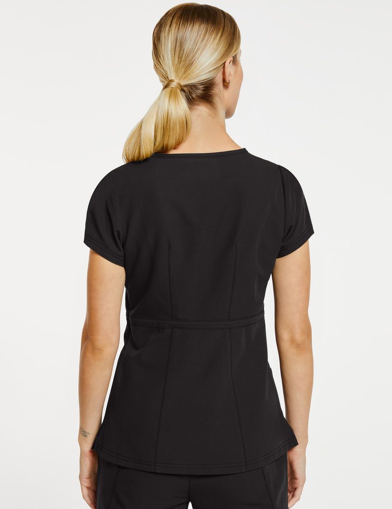 Jaanuu | Women's Signature Peplum Top - Black - 4