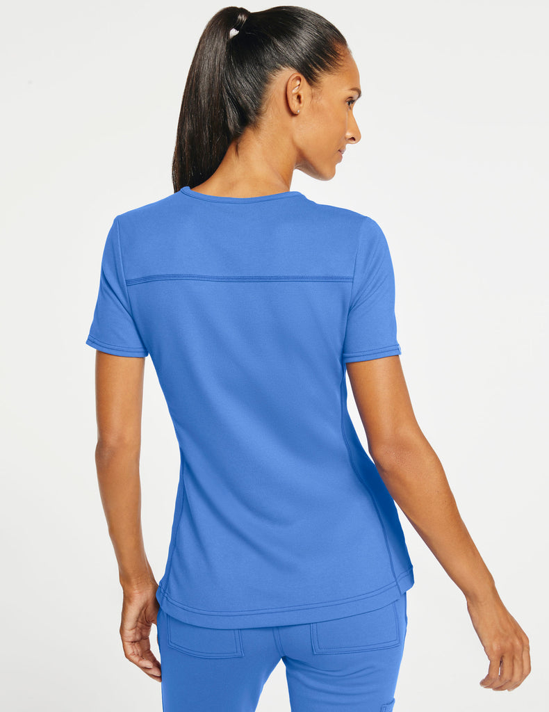 Jaanuu | Women's 2-Pocket Side-Rib Top - Ceil Blue - 4