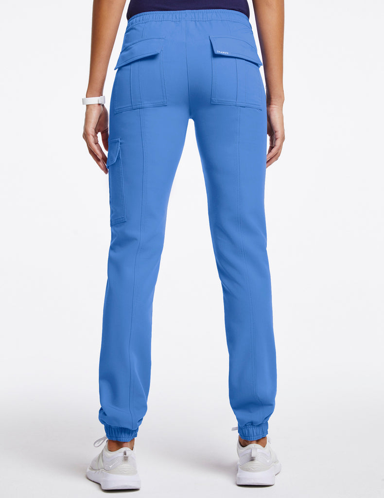Jaanuu | Women's Essential Gold Zip Jogger - Ceil Blue - 4