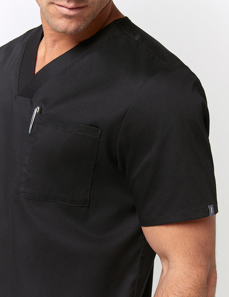 Jaanuu | V-Neck Pocket Top - Black - 3