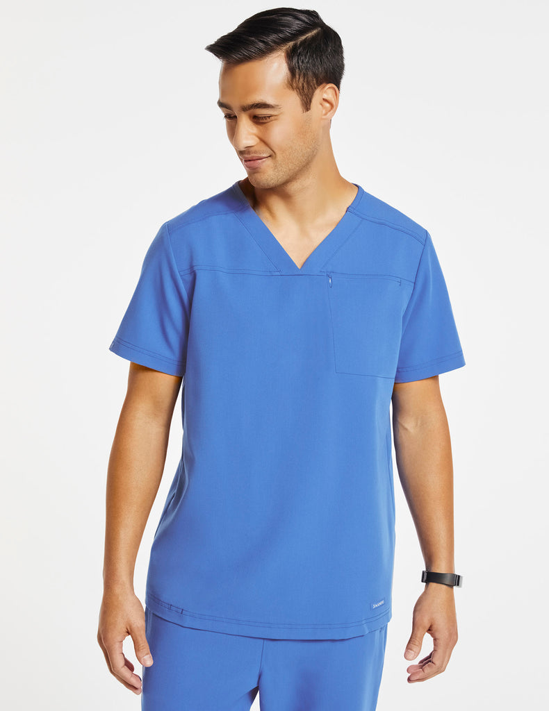 Jaanuu | Men's Hidden-Pocket Top - Ceil Blue - 1