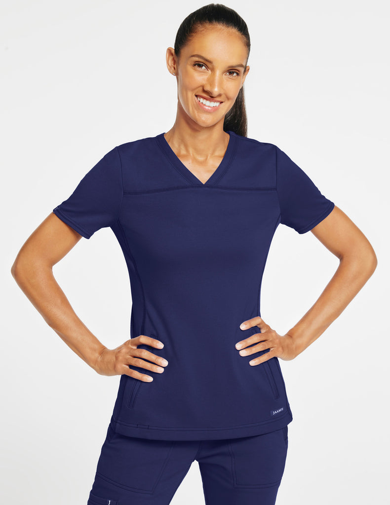 Jaanuu | Women's 2-Pocket Side-Rib Top - Navy - 1