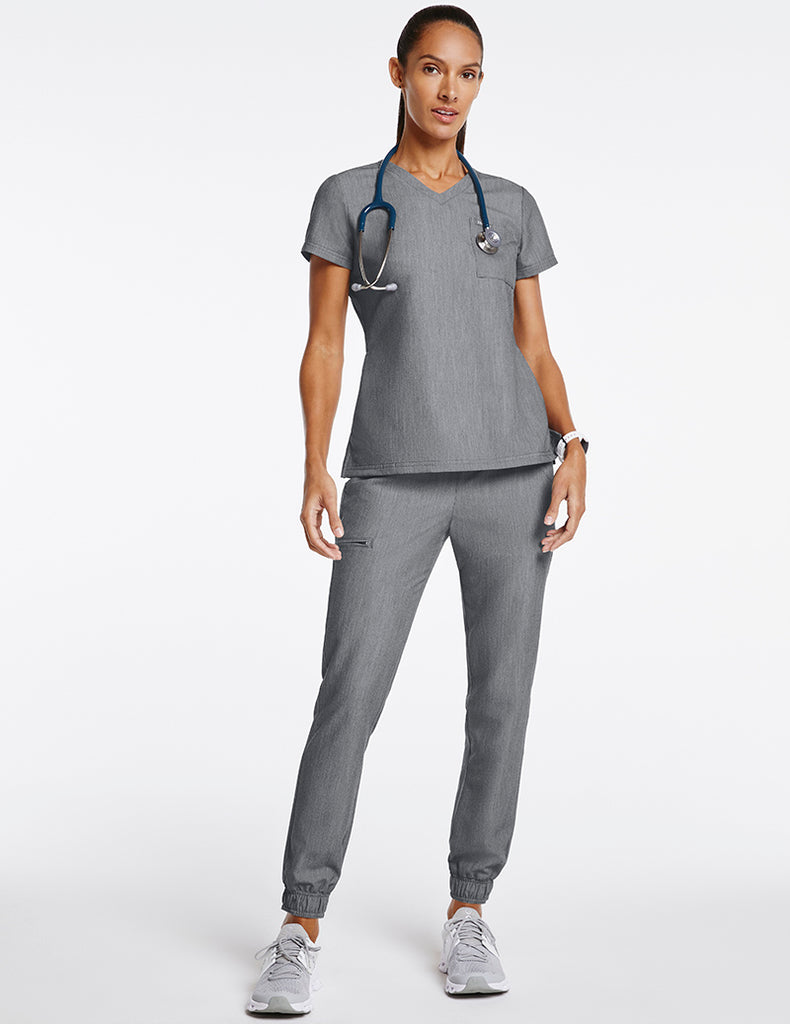 Jaanuu | Women's Essential 5-Pocket Jogger - Heather Gray - 2