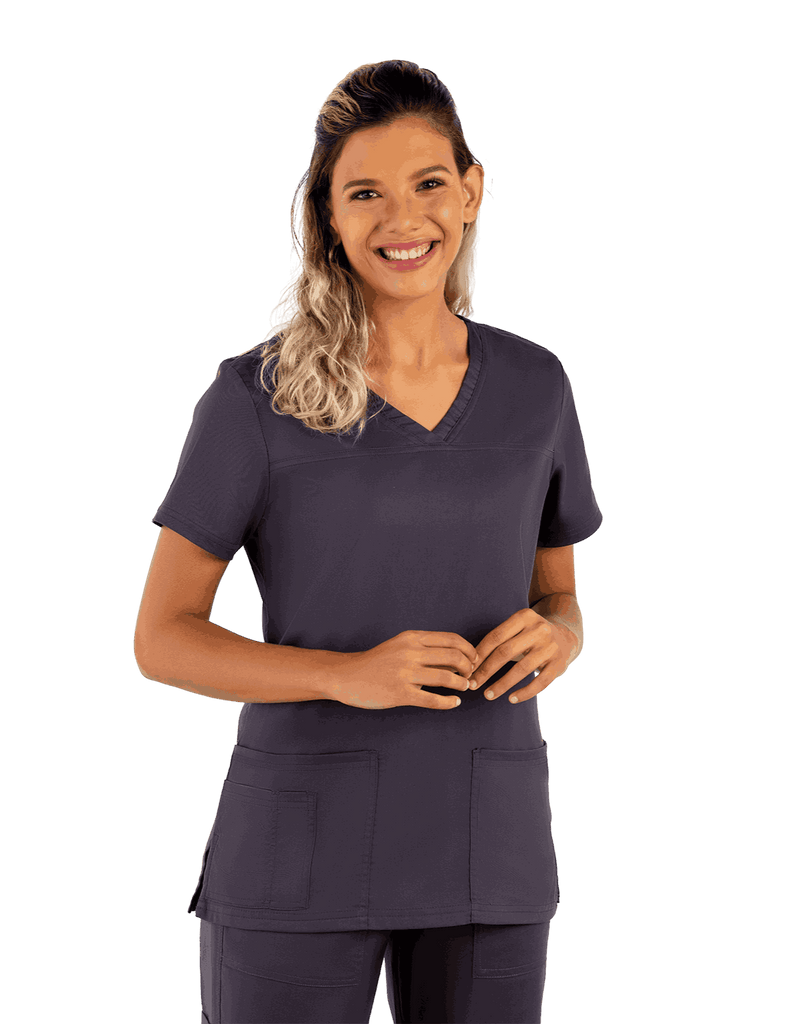 Life Threads | Women's Contego V-Neck Top - Pewter - 1