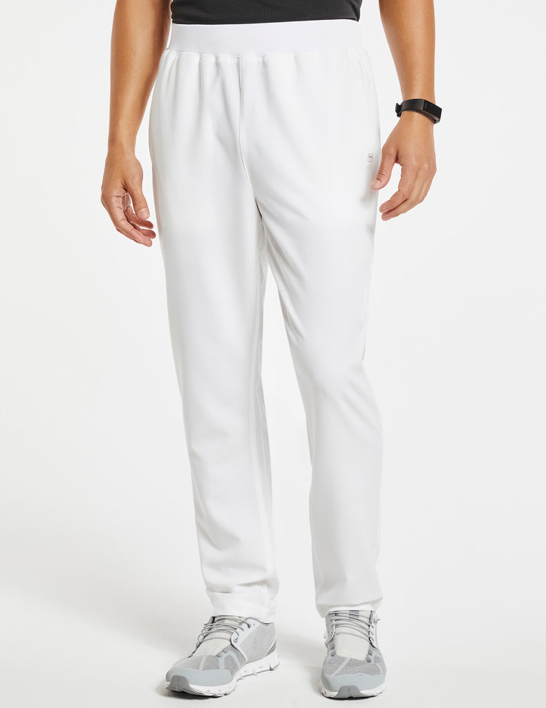 Jaanuu | Men's 4-Pocket Relaxed-Fit Pant - White - 1