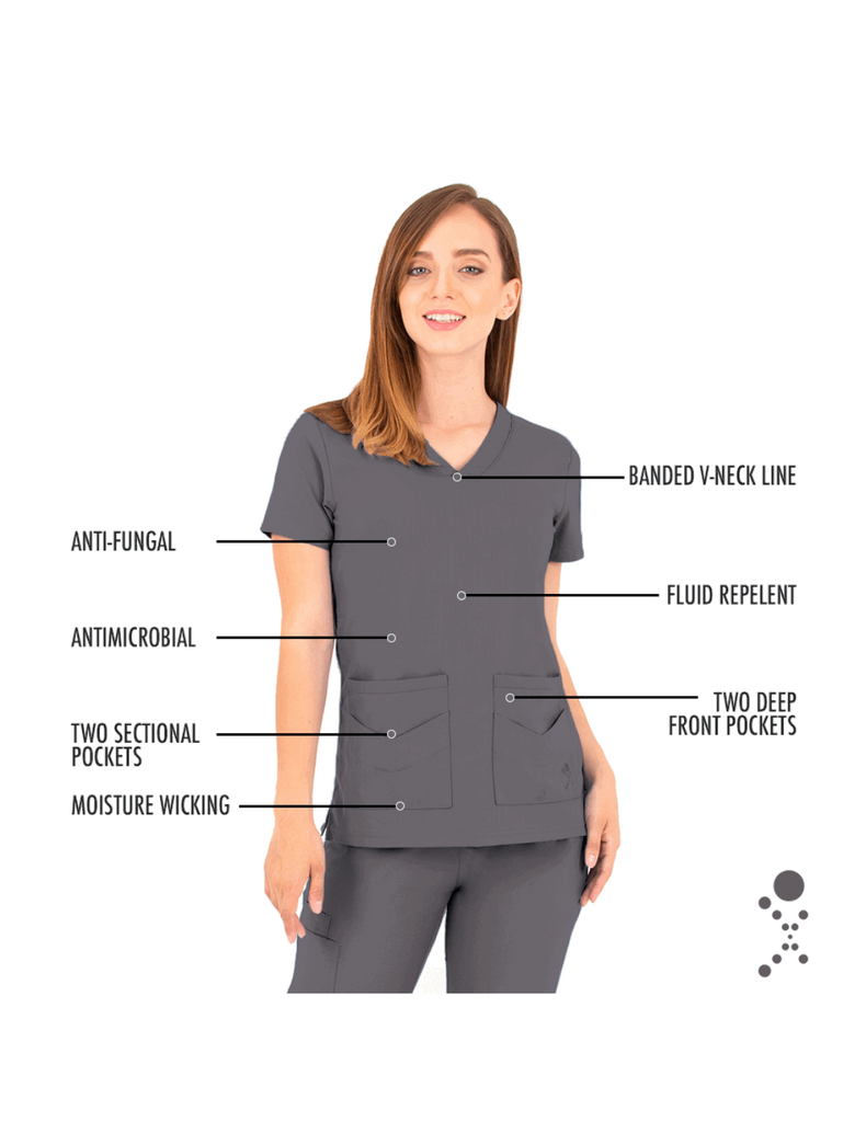 Life Threads | Women's Ergo 2.0 Utility Top - Pewter - 5