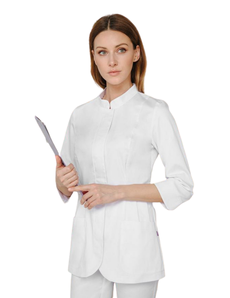 Treat in Style | Elegant Lab Coat Short - White