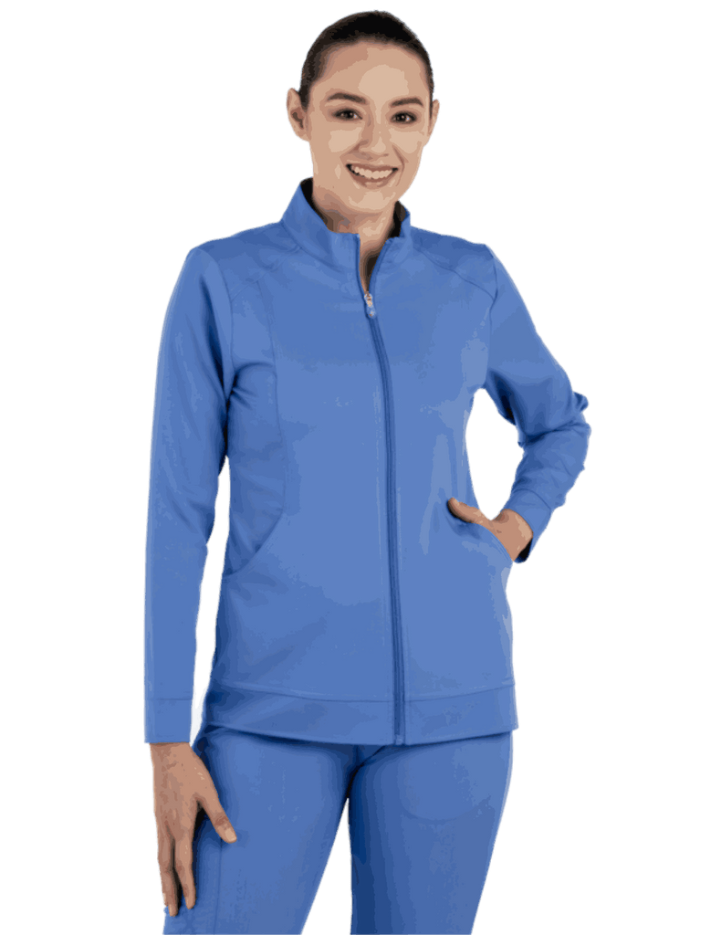 Life Threads | Women's Ergo 2.0 Warm Up Jacket - Ceil Blue - 1