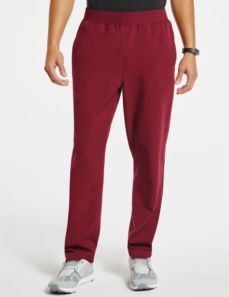 Jaanuu | Men's 4-Pocket Relaxed-Fit Pant - Wine - 1