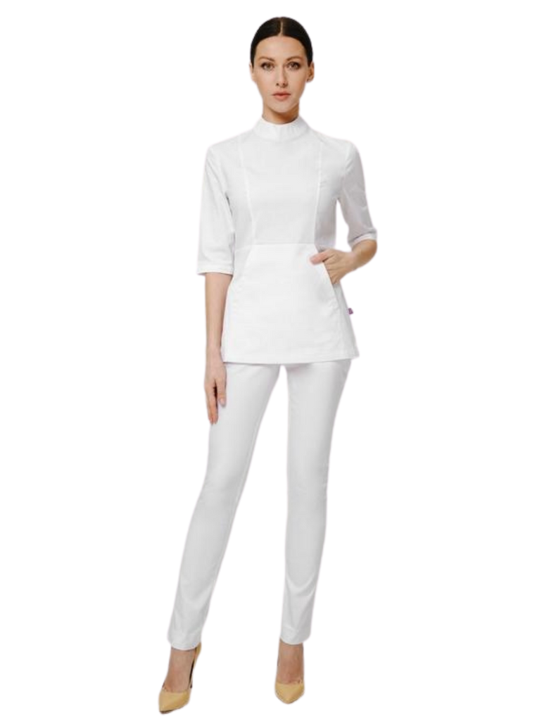 Treat in Style | High Neck Top - White