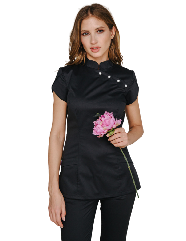 Treat in Style | Pearls Blouse - Black