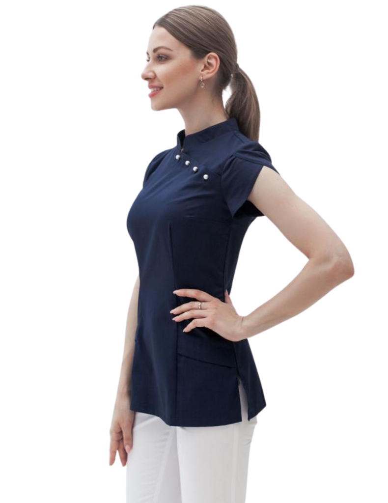 Treat in Style | Pearls Blouse - Blue