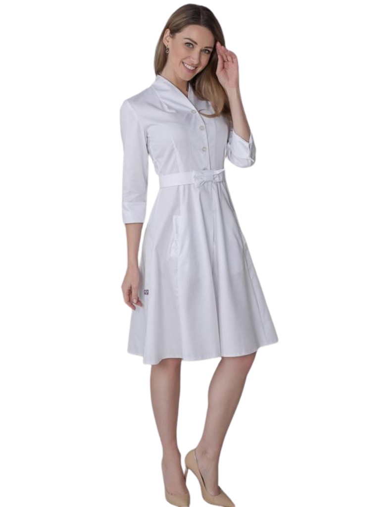 Treat in Style | Retro Lab Coat - White
